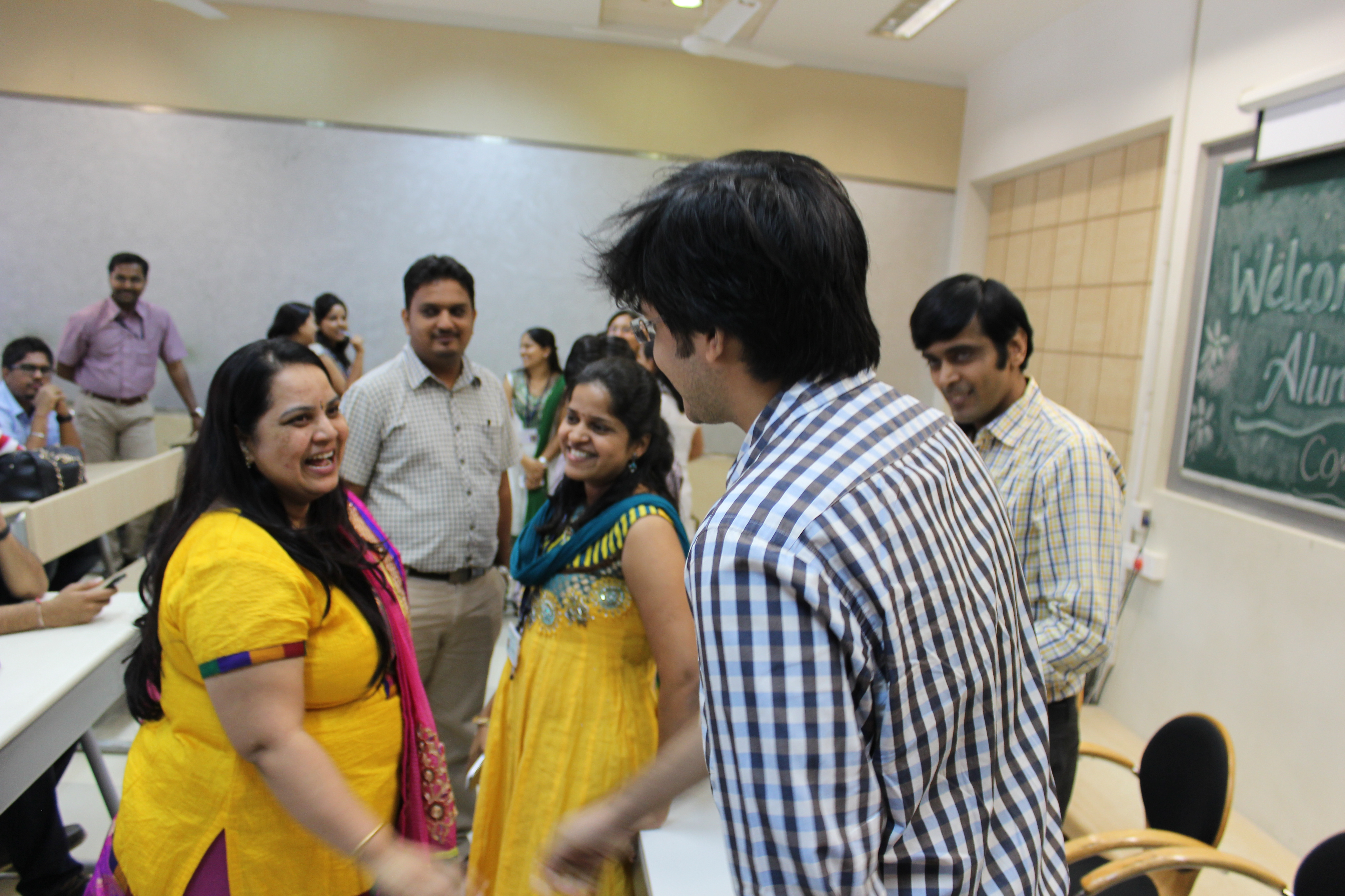 Faculties interacting with the students